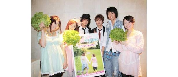映画「ViVA! Kappe(ビバ! カッペ)」のスペシャルイベントに出席した斉藤えり菜、西尾舞生、サスライメイカー、伊藤友樹、芹沢那菜(左から)