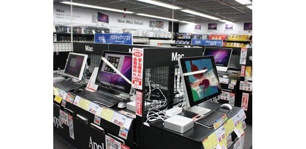 Mac関連商品も豊富にそろっている