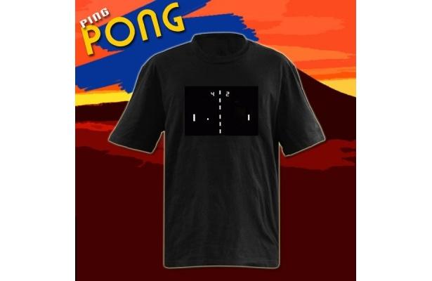 Tシャツでピンポンゲームが!「ピンポンTシャツ」(¥3990)
