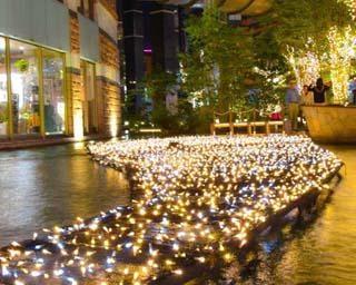光いっぱいの世界が広がる、福岡県のキャナルシティ博多で「キャナルイルミネーション2020」開催中