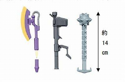一見、ペンには見えない、武器の先端部分がキャップになった「ボールペン賞」(全4種)