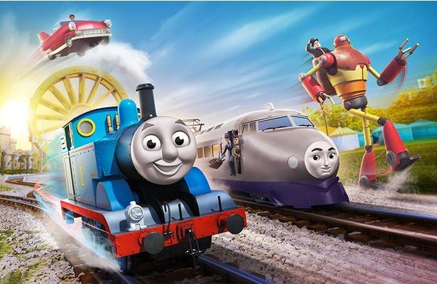 トーマスやいつもの仲間たちに加え、世界最速のケンジ、あやしい2人組を乗せた蒸気機関車のサニーらが登場