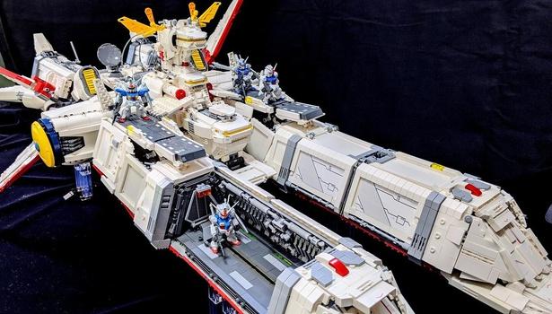 OVA『機動戦士ガンダム0083』に登場する地球連邦軍の艦艇「アルビオン」を1/300スケールで製作