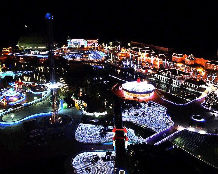 250万球が輝く光の世界、香川県丸亀市で「レオマウィンターイルミネーション2020-2021」開催