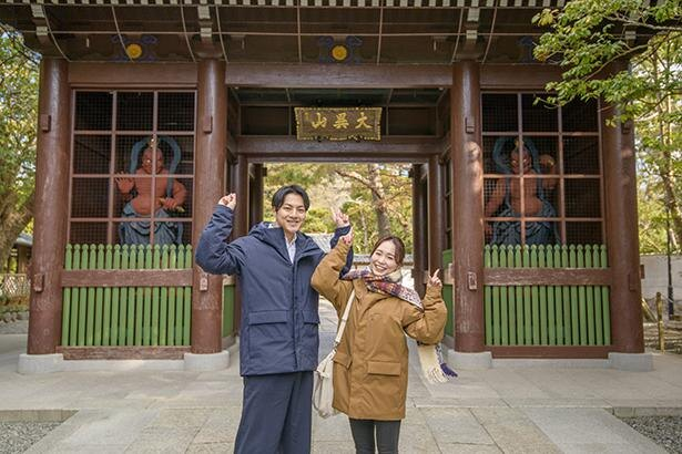 高徳院に到着したよ!山門をくぐれば、いよいよ大仏とご対面!