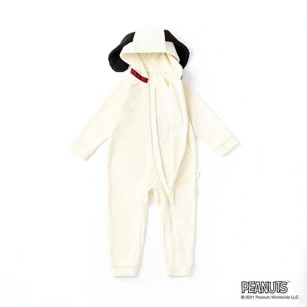 ベビーサイズは下着一体型。手足のカバー付きで寝冷えも防ぐ