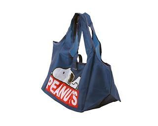 スヌーピーのコンビニ用マチ広エコバッグが便利!弁当も横にならずに持ち運べる