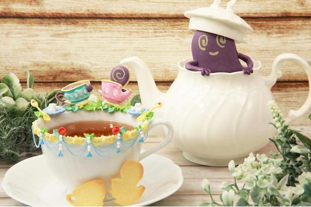 ヤバチャとポットデスのお茶会。実物のポットをうまく使った作品