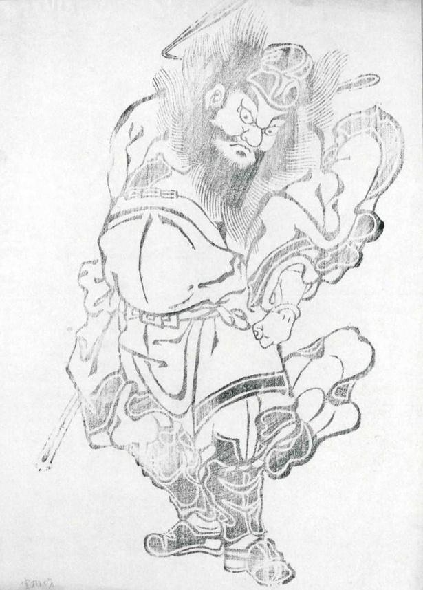 神像「鐘馗(しょうき)様」。鐘馗様は厄鬼を退け魔を除くと言われている