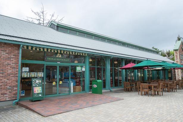 トーマスランドのメインレストラン。ランチプレートやスープ、ドリンクなど、豊富なメニューを取りそろえている