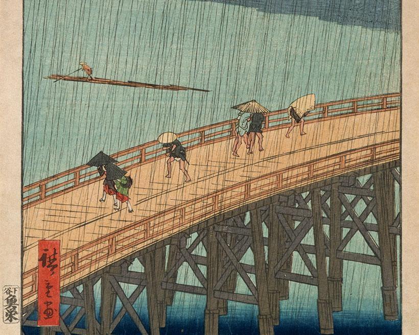 歌川広重の風景画に注目、奈良県立美術館で「広重の名所江戸百景 併催:新収蔵品・新寄託品を中心に」開催