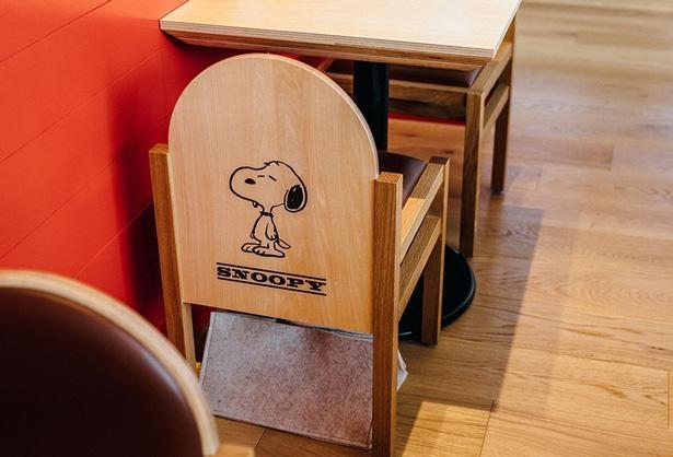 椅子の背もたれに描かれたキャラクター。自分の席は誰だったか要チェック!