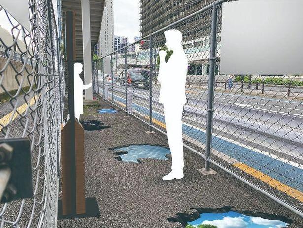 大崎駅の加熱式たばこ専用喫煙スペース