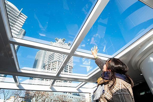デッキ部分は屋根はあるが透明なので開放的だ