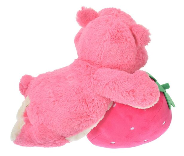 ふわふわとしたピンクのボディは、どの角度から見てもキュート