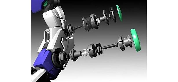 関節には、新たに設計したクラッチ機構を採用