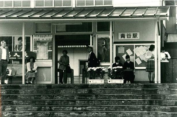 青谷駅【1985年(昭和60年)頃】  堀井敬之氏撮影