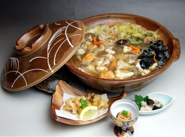 こちらは珠洲温泉のとじ荘のあんこう料理