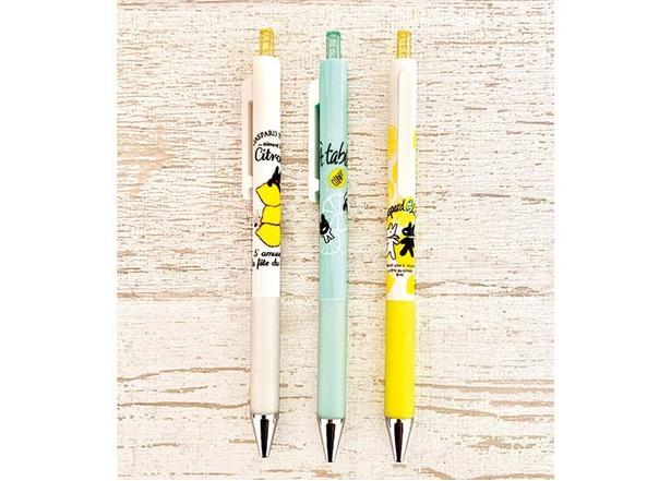 税込3000円以上の購入でもらえる、日本未発売のボールペン(各日先着500名限定、3種類のうちいずれか1本)
