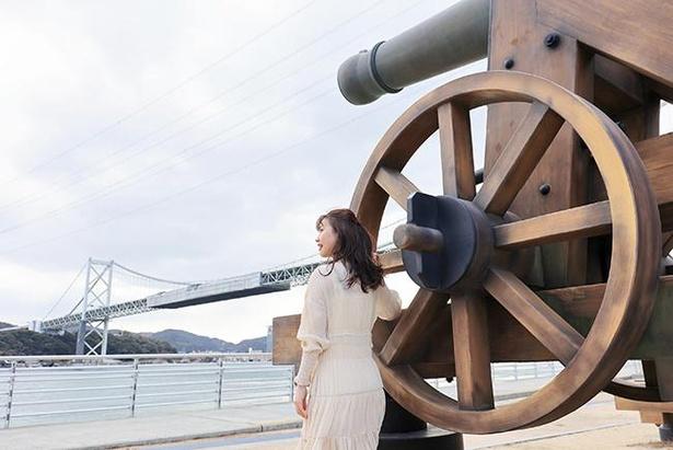 「長州砲」と共に関門海峡を一望