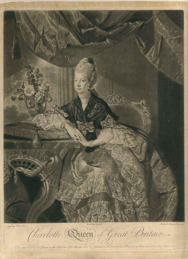 《シャーロット王妃》1772年 個人蔵