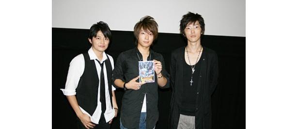 イベントに登場した下野紘、柿原徹也、櫻井孝宏(写真左から)