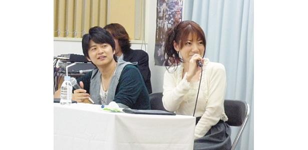 リアル実力テストに参加した下野紘と原田ひとみ(写真左から)