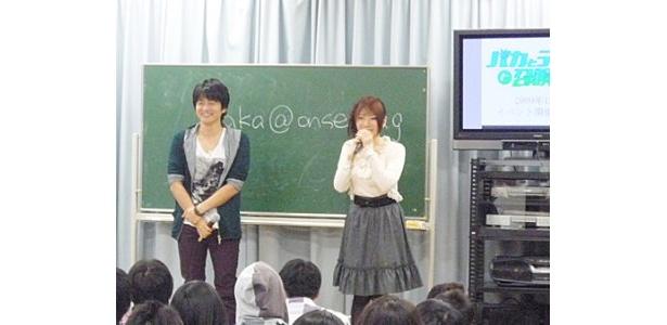 「下野さんのやられ具合が楽しくて」と見どころを語る原田ひとみ(写真右)