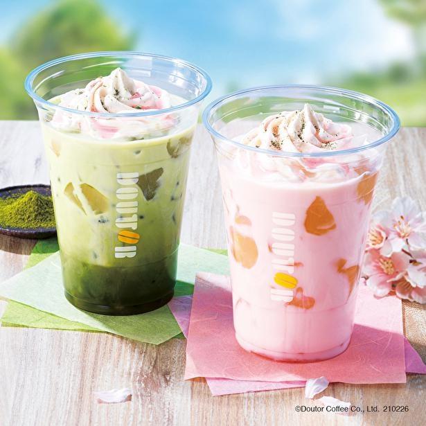もちっとしたわらび餅の感触がクセになる「桜オレ わらび餅」「桜抹茶オレ わらび餅」
