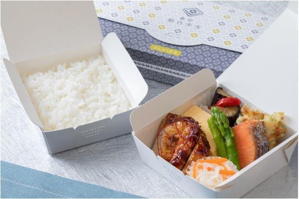 ごはんに合う味付けの肉や魚をふんだんに詰め合わせた、まんぷく弁当980円(税込)