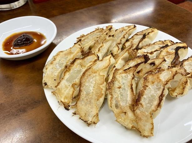 餃子好きが愛してやまない「ひょうたん餃子」。1人前(7個)390円※写真は2人前