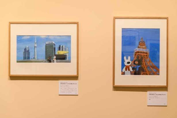 東京の二大タワーとリサとガスパールが共演!