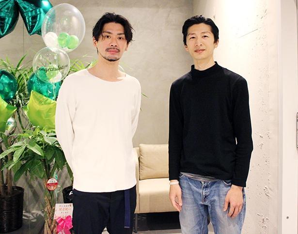 サロンビレッジを運営する株式会社WBP代表取締役の山本豊さん(写真左)とサロンマネージャーの柳尚一さん(写真右)