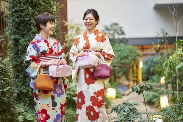 【写真を見る】食事のあとは、着物にぴったりの撮影スポットが広がる園内を散策しよう