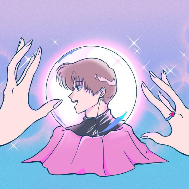 「魔法少女、恋をするの巻」水晶を通して、好きな彼に想いを届ける