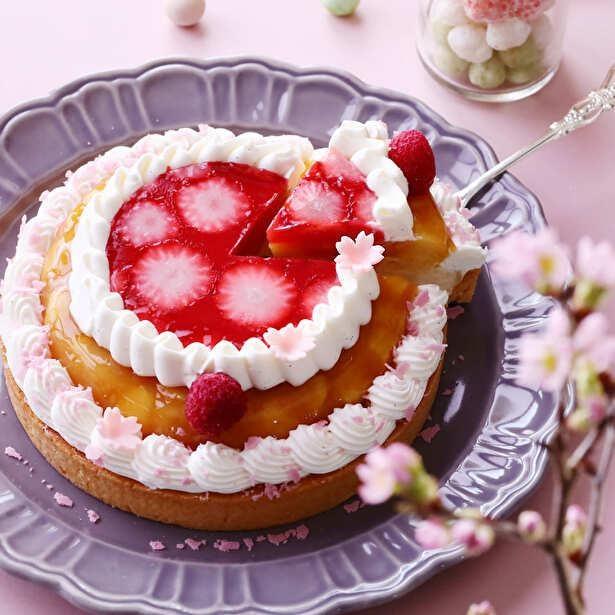 卒業、春、ひなまつりをイメージしたフォトジェニックないちごケーキ