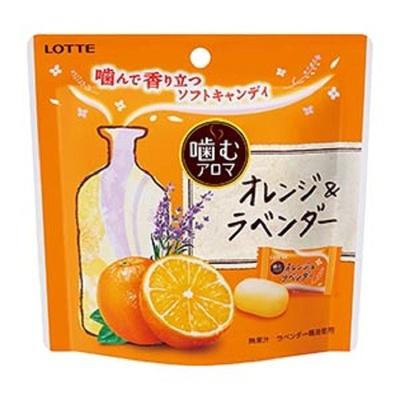 噛むたびにアロマの香りが楽しめるソフトキャンディ「噛むアロマ オレンジ&ラベンダー」(オープン価格)新登場