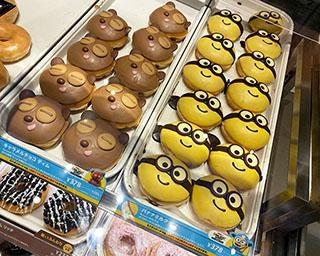 ミニオンが大好物・バナナ味のドーナツに!クリスピー・クリーム・ドーナツとの初コラボ商品が登場