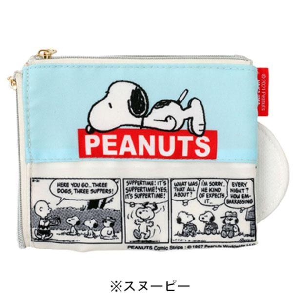 ティッシュ入れの面にはPEANUTS(ピーナッツ)のコミックアートが描かれている