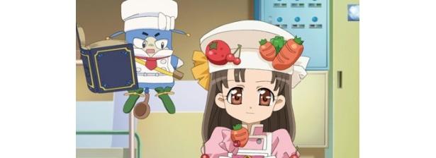 アニメパートでは、主人公・まいんが歌って踊れる料理番組の司会者として奮闘