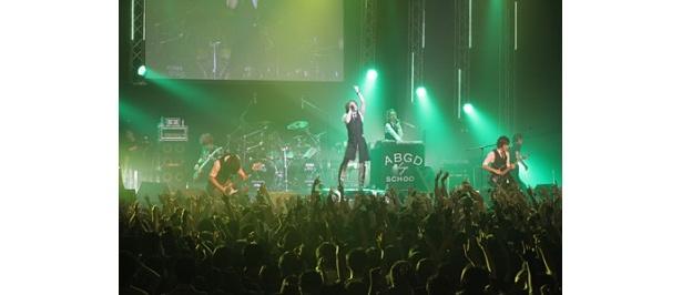 迫力の歌と演奏で会場を圧倒したabingdon boys school