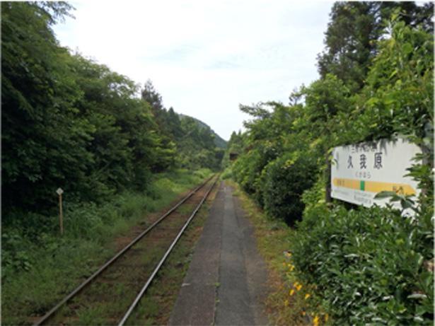 のどかな風景が広がる、いすみ鉄道の久我原駅
