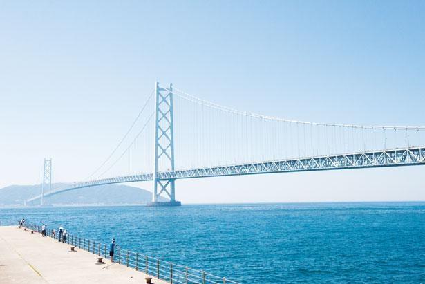 世界最長の吊橋・明石海峡大橋