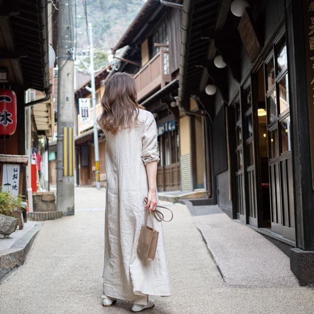 有馬温泉街の湯本坂はレトロな雰囲気