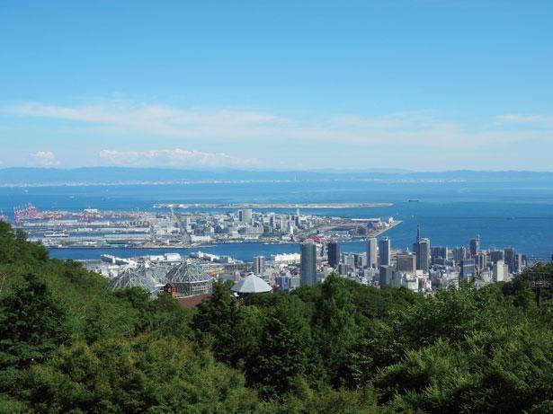 日本最大級の神戸布引ハーブ園から望む神戸の街