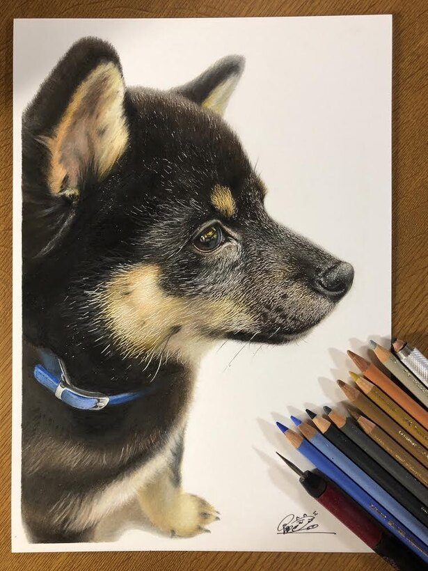 オレオ先生を描いた一枚。今後は犬の絵も増えるかも…!?