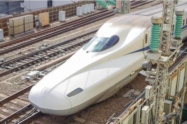 「撮れインビュープラン」の客室からは、新幹線を間近に見ることができる