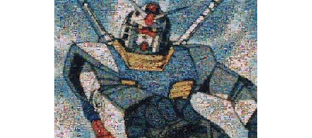 3600枚の名シーンで迫力のガンダムが完成! 「一年戦争の記憶」(サイズ72cm×49cm)