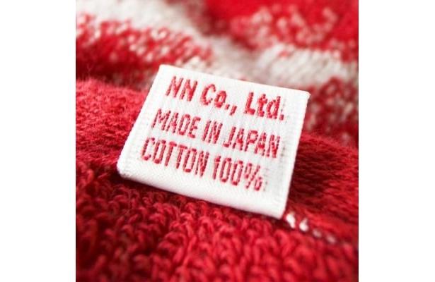 タオルの名産地・今治で生産。綿100%で使い心地も最高です