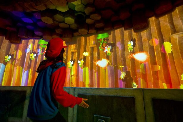 「とりかえせゴールデンキノコ!クッパJr.ファイナルバトル」。自身の影をマリオのように扱い、ゲームをクリアしよう